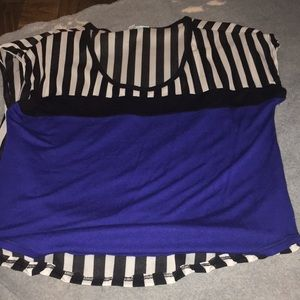 Striped with blue